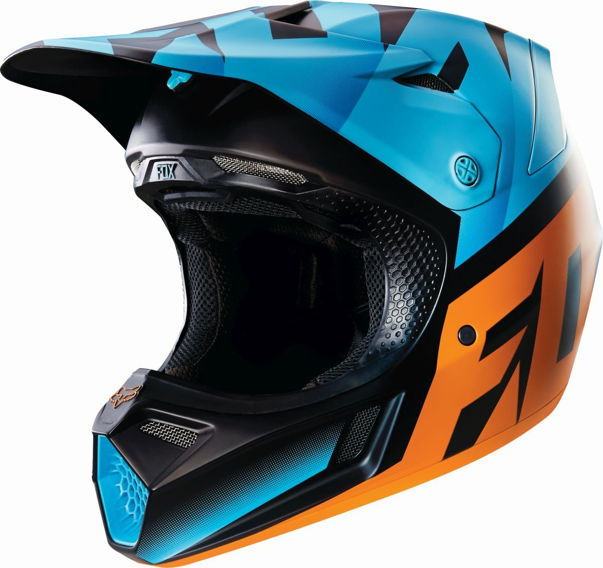 casque fox v3 shiv aqua sasie center moto. Black Bedroom Furniture Sets. Home Design Ideas