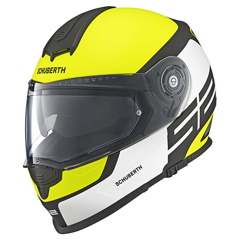 casque schuberth s2 sport elite jaune fluo sasie center moto. Black Bedroom Furniture Sets. Home Design Ideas