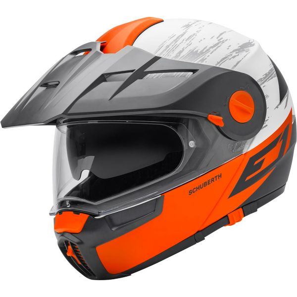 casque schuberth e1 crossfire orange sasie center moto. Black Bedroom Furniture Sets. Home Design Ideas